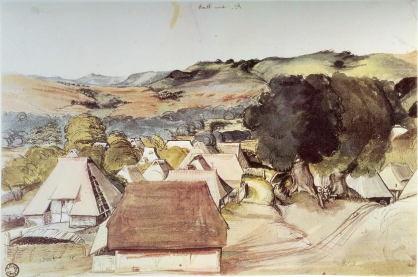 Albrecht_D_Ansicht_des_Dorfes_Kalchreuth